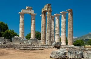 Europa, Griechenland, Peloponnes, Korinthia, Zeus Tempel von Nemea