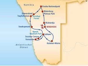Namibia_KarteRundreise